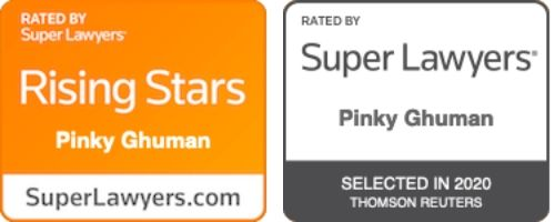 Pinky Ghuman Rated by Super Lawyers 2020